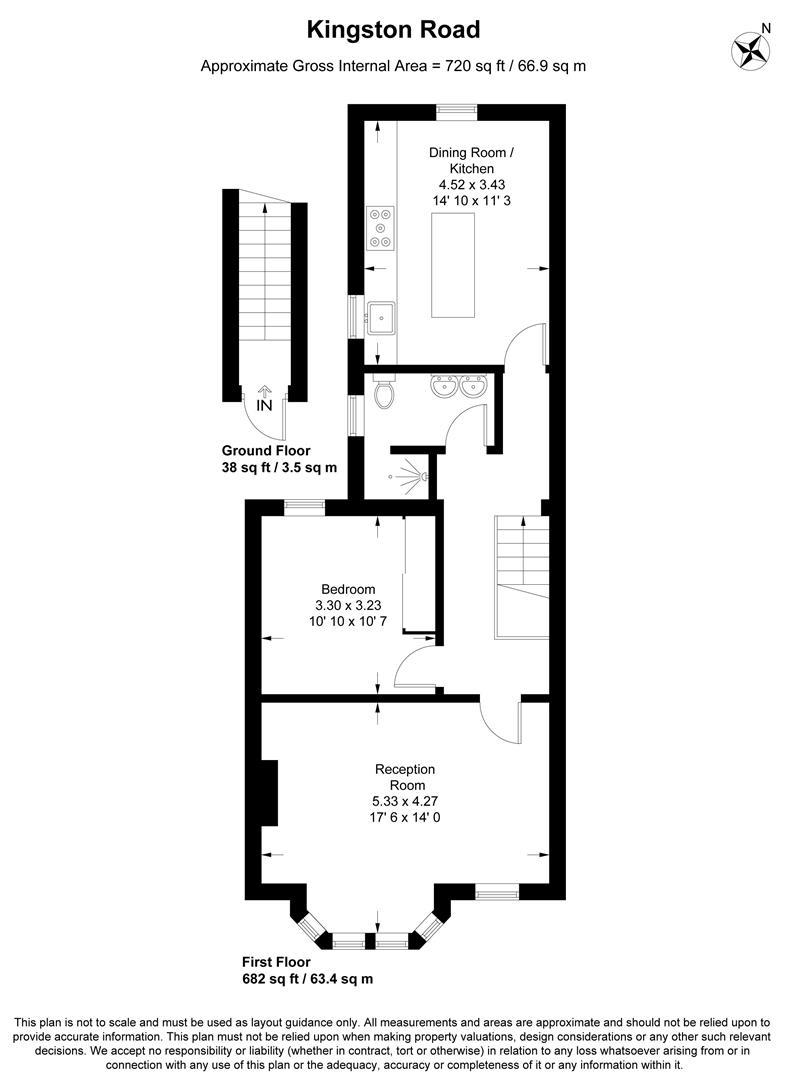 Floorplan for Kingston Road, Wimbledon